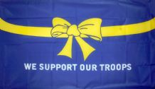 WE SUPPORT OUR TROOPS (BLUE) - 5 X 3 FLAG